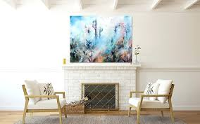 painting above fireplace abstract landscape painting above fireplace painting an old brick fireplace white