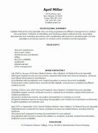 Medical Records Auditor Sample Resume Beauteous Medical Records Clerk Resume 44 Medical Records Specialist Resume