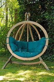 globo green single hammock chair and stand set