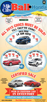 Honda Dealers San Diego Ball Honda Mile Of Cars Shopping Ads From San Diego Union Tribune