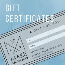 Make South Bend Gift Cards