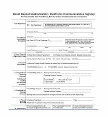 Direct Deposit Authorization Form Impressive 44 Direct Deposit Authorization Form Templates Template Archive