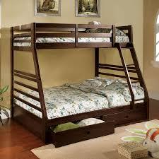 furniture of america california dark walnut twin over full bunk bed