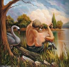 mind this painting titled shows sigmund freud the founder of