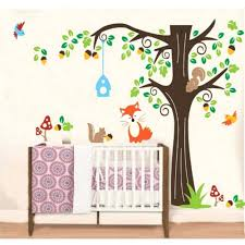jungle tree wall decals wall decals wall art stickers room tree wall  sticker for nursery squirrel
