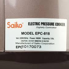 Nồi áp suất điện Saiko EPC-818 đa năng 5 lít - hàng chính hãng