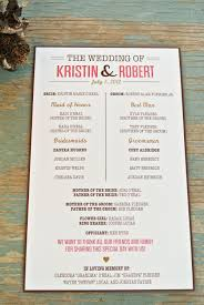 Wedding Program Rustic Wedding Program Wedding Programs Programming And Rustic 6