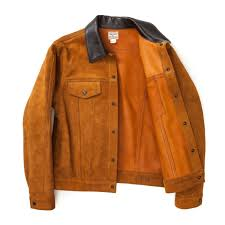 rough out leather western jacket brown a versatile slim fitting suede jacket built for outdoor work inspired by those worn during the 1960s