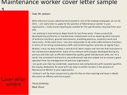 Best Sample Cover Letter For Maintenance 42 For Resume Cover Letter  Examples With Sample Cover Letter