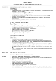 Licensing Coordinator Resume Samples Velvet Jobs