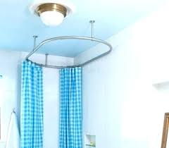 wall mount shower curtain rod ceiling mount shower curtain rod how to install with mounted rods