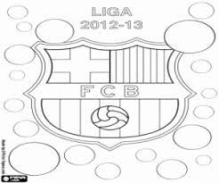Kleurplaat Fc Barcelona Kampioen 2012 2013 Kleurplaten