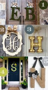 letters for front door36 Creative Front Door Decor Ideas not a wreath  Wreaths Doors