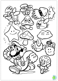 Small Picture Games Super Mario Bros Coloring Pages Printable Kids Colouring