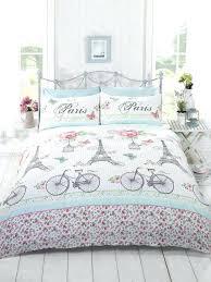 la vie chic bicycles tower quilt doona duvet cover set paris themed comforter twin home improvement