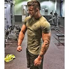 Sport <b>Shirt</b> Dry Fit <b>Men Running T Shirts</b> Fitness GYM Aesthetics ...