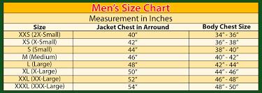 X Large Size Chart Size Chart