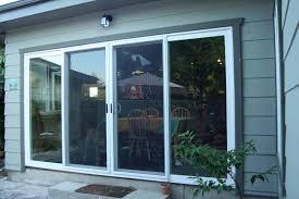 image of 4 panel sliding glass door cafe