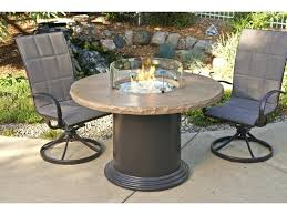 round fire pit table colonial fiberglass dining table with mocha top shown with optional glass guards not included gas fire pit table cover