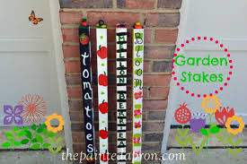 garden poles. i decided to give my flowers and plants a little encouragement this year some perky painted garden stakes help them grow big bloom sprout just for poles e