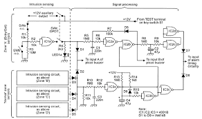 security electronics systems and circuits part 7 nuts volts basic circuit diagram of the intrusion sensing signal processing circuitry