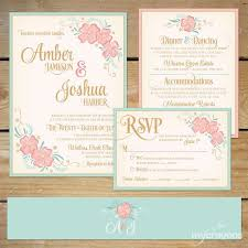 best 25 pink wedding invitation suites ideas on pinterest blush Pink And Green Wedding Invitation Templates printable floral wedding invitation suite by mycrayonspapeterie mint and blush pink wedding, pink Printable Wedding Invitation Templates