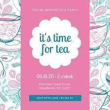 tea party templates interior tea party invitations pink pattern tea party invitation