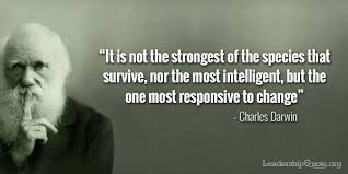 Are You Strong Intelligent Or Responsive To Change Best Darwin Quotes