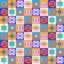 Colorful Designs Decorative Template With A Ethnic Colorful Designs