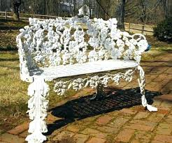 white iron garden furniture. Wroght Iron Garden Furniture Wrought Outdoor Bench Brilliant White O