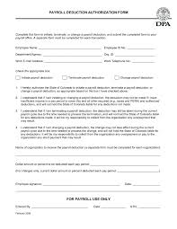 Best Photos Of Payroll Deduction Form Template Authorization