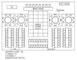 rectangle and circle wedding reception floor plan maybe wedding reception food table layout