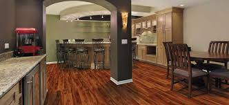 Basement With Wood Laminate Flooring Design Ideas