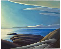 lake superior iii circa 1923 24 by lawren s harris 1885 1970 oil on canvas 102 5 x 127 6 cm 40 38 x 50 25 in the thomson collection at the art