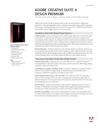 What Is In Adobe Creative Suite 5 5 Design Premium Adobe Creative Suite 4 Design Premium Manualzz Com
