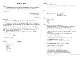 Letter Essay Examples Example For Informal Letter Housekeeper