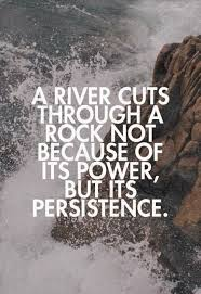 Persistence Quotes Cool A River Cuts Through A Rock Not Because Of Its Power But Its