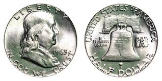 1963 Franklin Half Dollar Liberty Bell Coin Value Prices