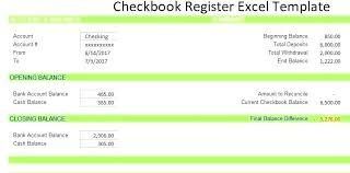 Excel Checkbook Template Excel Checkbook Register Template Printable Checkbook Register Free