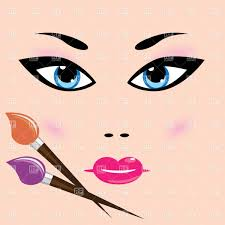 make up and cosmetic face of woman vector image vector artwork of beauty to zoom