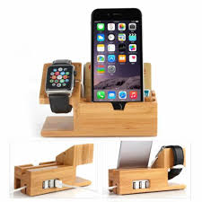 Its intelligent protect technology brings temperature control, overcharging, over current. Family Phone Rack Charging Dock Stand Station Charger Holder For Apple Watch Iwatch Iphone Bamboo Storage Holders Racks Aliexpress
