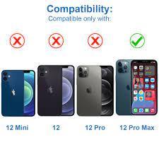 Front Glas Ersatz Display für iPhone 12 Pro Max - Schwarz - 6.7 inch inkl  Tools