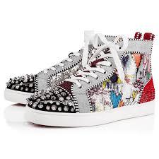 Christian Louboutin Size Chart Reviews Christian Louboutin No Limit F18 High Top Silver Spikes Men Shoes