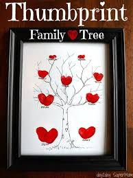 thumbprint family tree thoughtful diy mother s day gift ideas s diyprojects