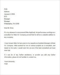Letter Of Recommendation For Employment 10 Employee Recommendation