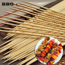 500pcs 30cmx3 5mm bamboo wooden bbq skewers meat food long catering grill forks party disposable