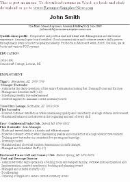 Bartender Resume Skills Classy Best Non Graphic Microsoft Word Resumes Inspirational Sample