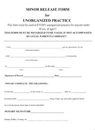 Parent Release Form Practice echovalleymotocross 1