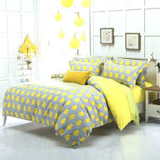 corduroy duvet cover queen full image for full size 3pieces fruit pear grey yellow prints duvet
