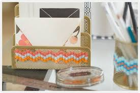 diy office decor. Cross Stitch Desk Accessories Diy Office Decor